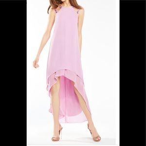 BCBGMAXAZRIA Purple Briele High-low Cutout Dress